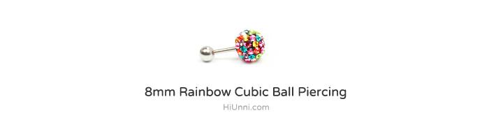 8mm_ear_studs_piercing_Cartilage_korean_asian_style_cubicball_barbell_Rainbow
