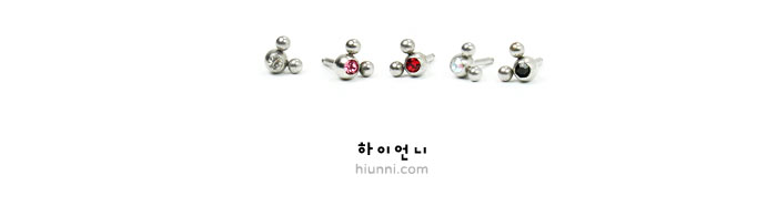 ear_studs_piercing_Cartilage_earrings_tragus_16g_316l_korean_asian_style_barbell_mouse_animal_character_1