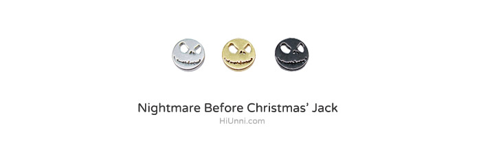 ear_studs_piercing_Cartilage_korean_asian_style_barbell_cheater_fake_plug_jack_nightmare_before_christmas