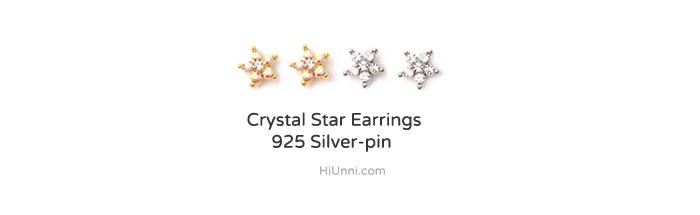 accessories_ear_stud_earrings_korean_asian-style_Crystal_Rhinestone_925-silver_Rhodium-Plated_14K-Gold-Plated_Nickel-Free_Star