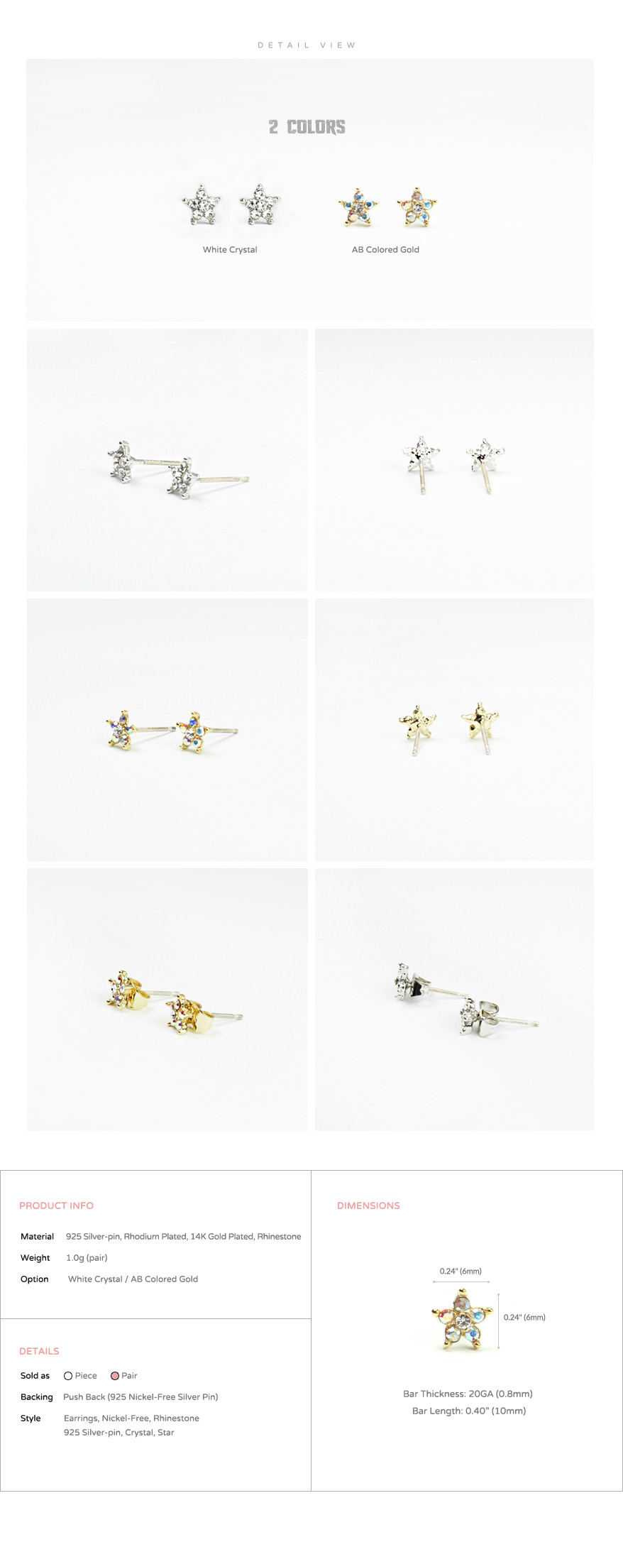 accessories_ear_stud_earrings_korean_asian-style_Crystal_Rhinestone_925-silver_Rhodium-Plated_14K-Gold-Plated_Nickel-Free_Star_2