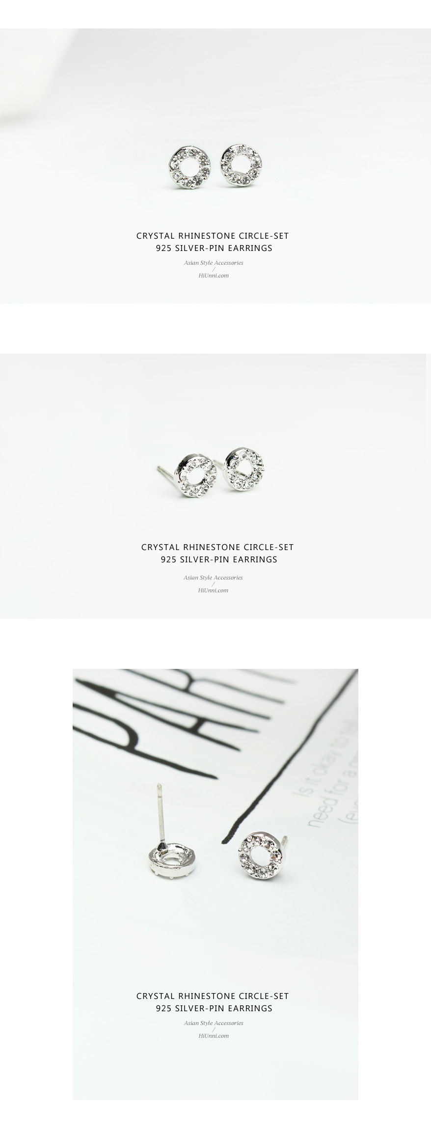 accessories_ear_stud_earrings_korean_asian-style_Crystal_Rhinestone_925-silver_Rhodium-Plated_Nickel-Free_Circle-set_1