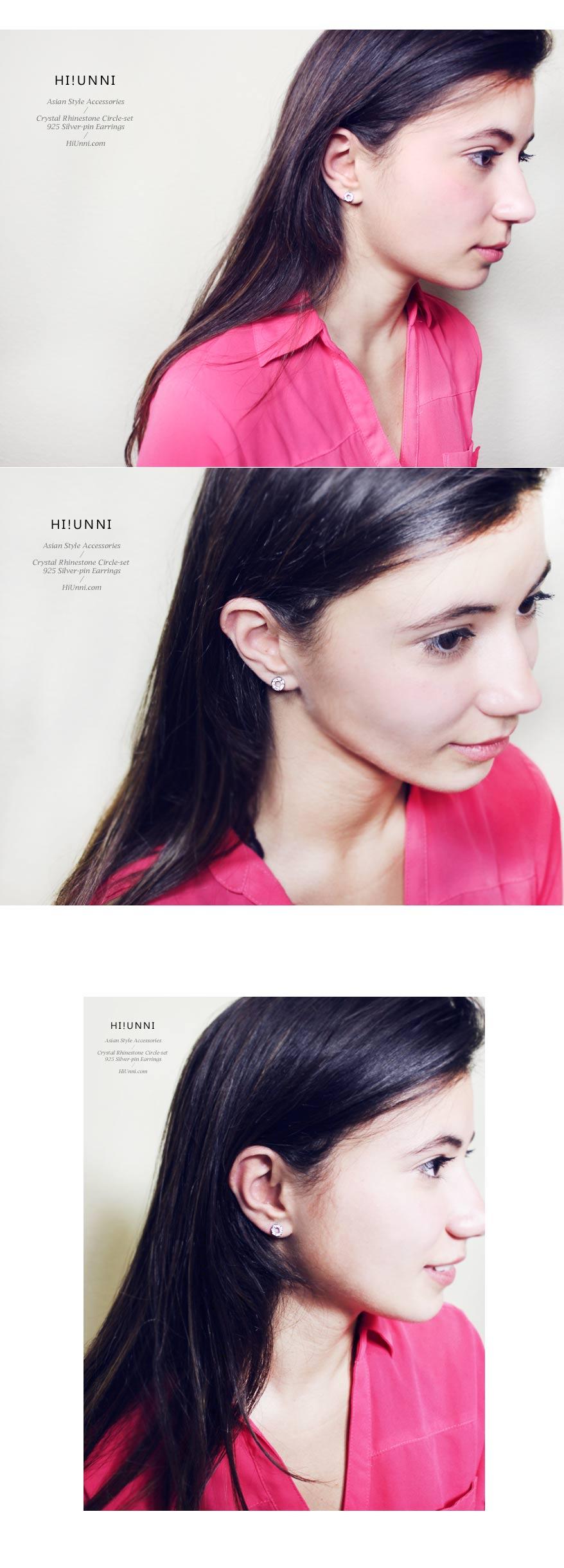 accessories_ear_stud_earrings_korean_asian-style_Crystal_Rhinestone_925-silver_Rhodium-Plated_Nickel-Free_Circle-set_2