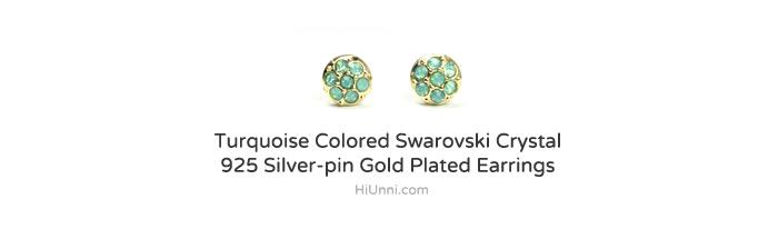 accessories_ear_stud_earrings_korean_asian-style_Crystal_Swarovski_925-silver_14KGP_Nickel-Free_Turquoise_indian