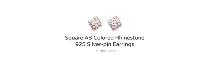 accessories_ear_stud_earrings_korean_asian-style_Rhinestone_925-silver_Rhodium-Plated_Nickel-Free_Square_AB_Aurora-Borealis