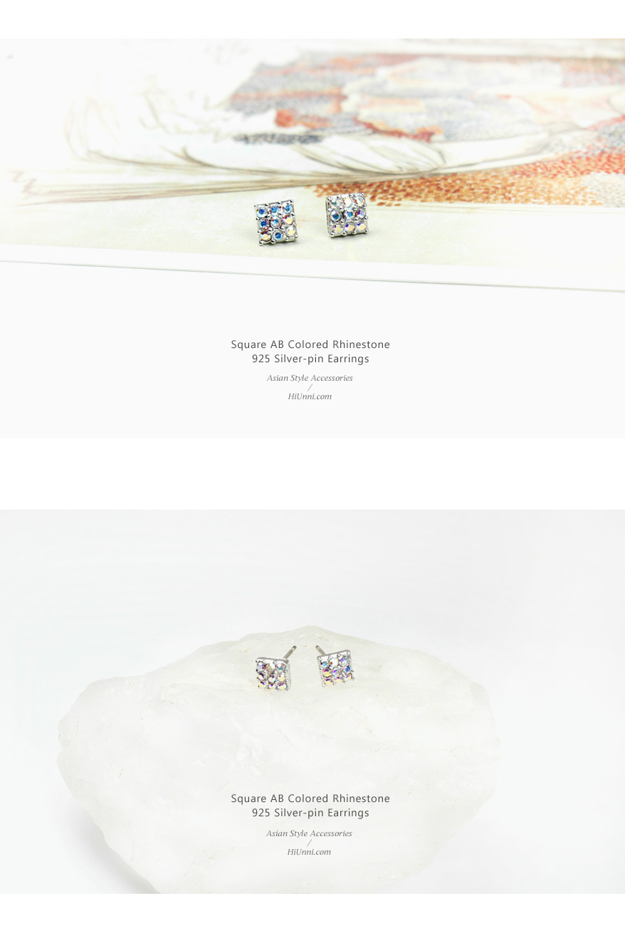 accessories_ear_stud_earrings_korean_asian-style_Rhinestone_925-silver_Rhodium-Plated_Nickel-Free_Square_AB_Aurora-Borealis_1