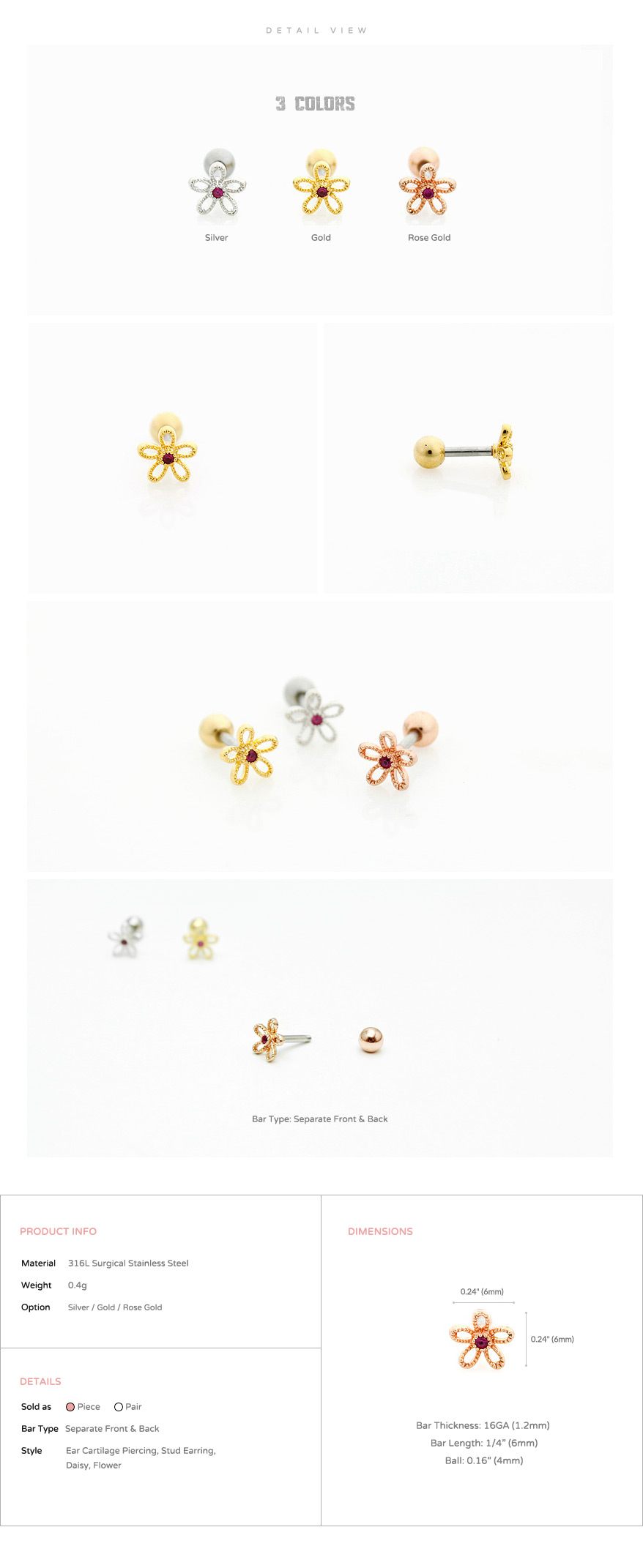 ear_studs_piercing_Cartilage_16g_316l_Stainless_Steel_earring_korean_asian_crystal_barbell_flower_Daisy_rosegold_4