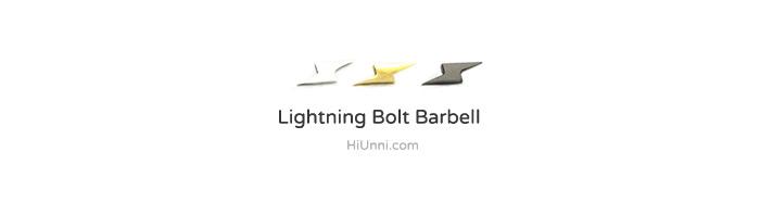 ear_studs_piercing_Cartilage_16g_316l_Stainless_Steel_earring_korean_asian_style_barbell_Lightning_bolt
