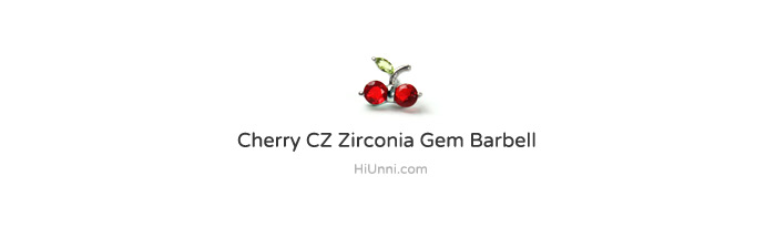 ear_studs_piercing_Cartilage_16g_316l_Stainless_Steel_earring_tragus_korean_asian_style_barbell_cherry_gem_cubic_cz