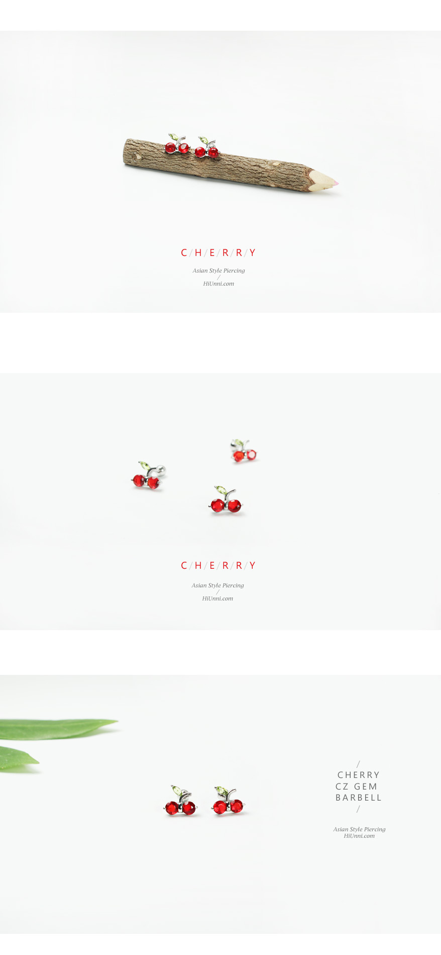 ear_studs_piercing_Cartilage_16g_316l_Stainless_Steel_earring_tragus_korean_asian_style_barbell_cherry_gem_cubic_cz_1