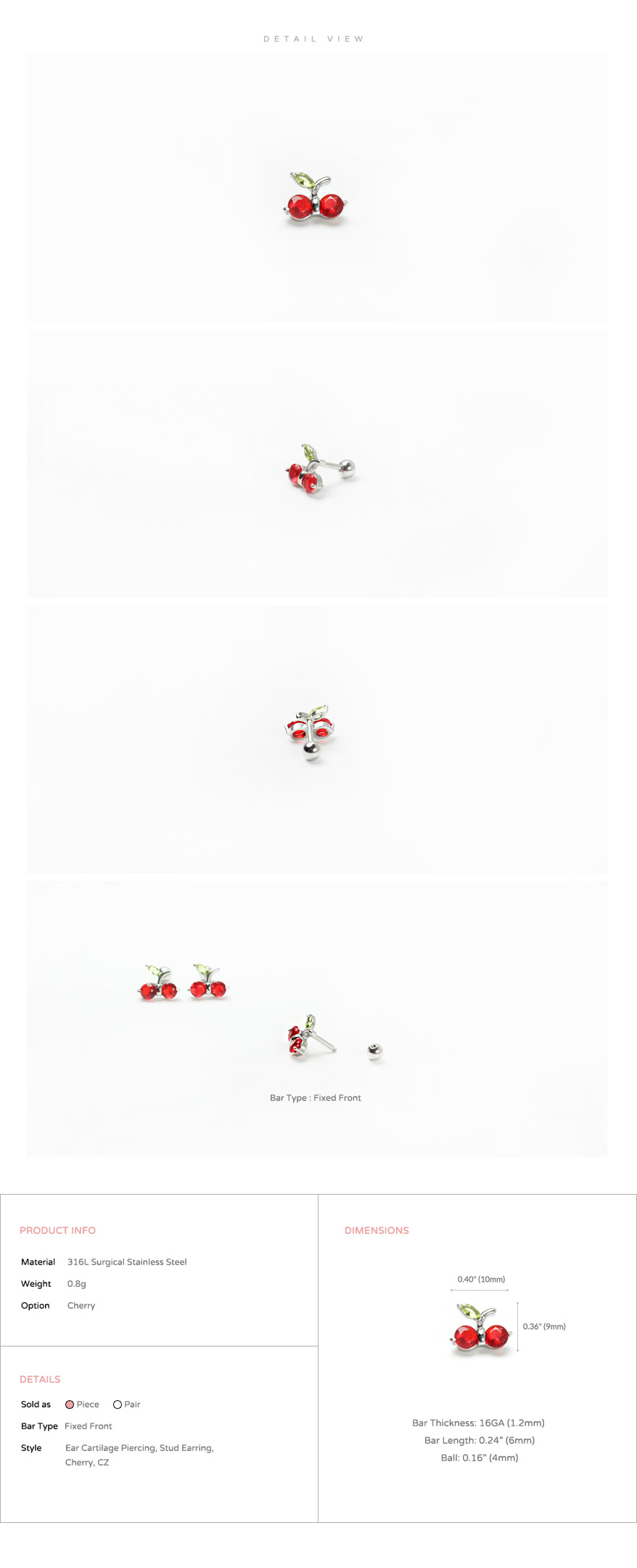 ear_studs_piercing_Cartilage_16g_316l_Stainless_Steel_earring_tragus_korean_asian_style_barbell_cherry_gem_cubic_cz_2