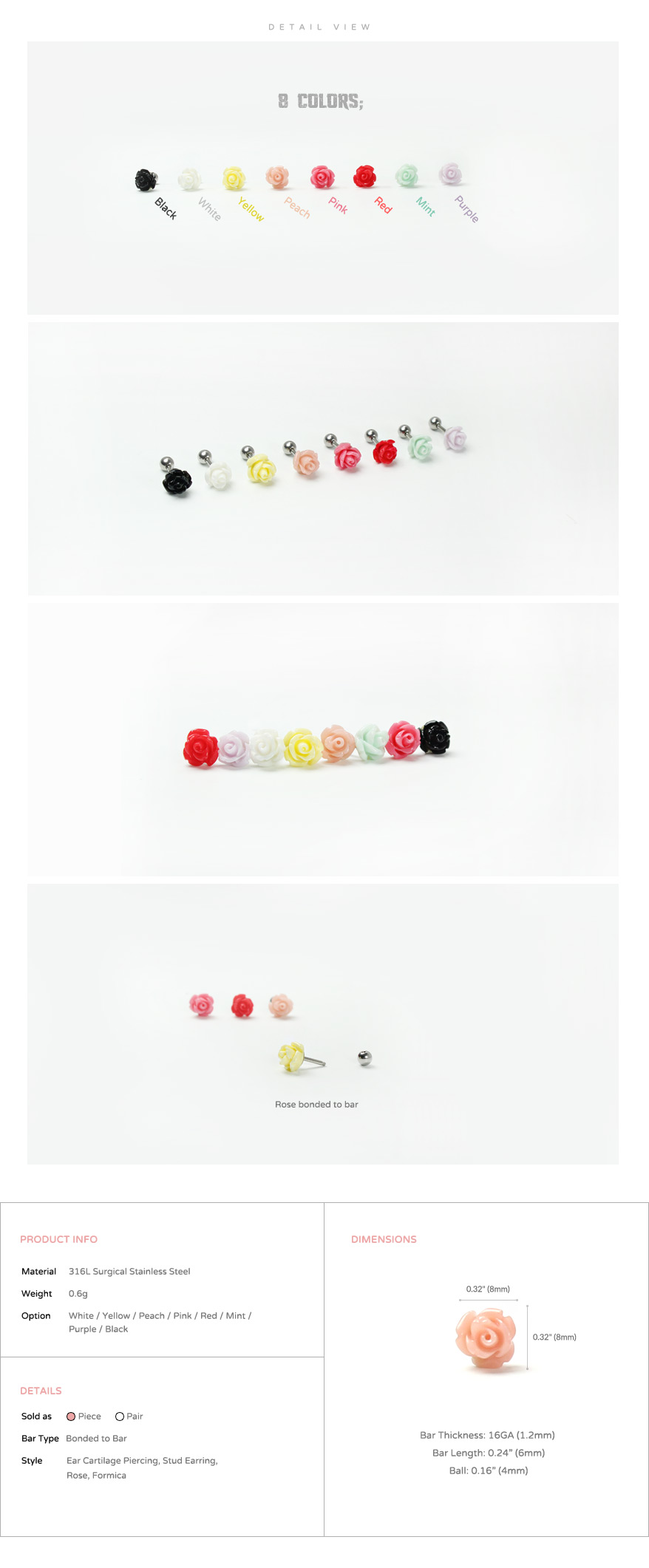ear_studs_piercing_Cartilage_16g_316l_Stainless_Steel_earring_tragus_korean_asian_style_barbell_flower_floral_Formica_rose_3