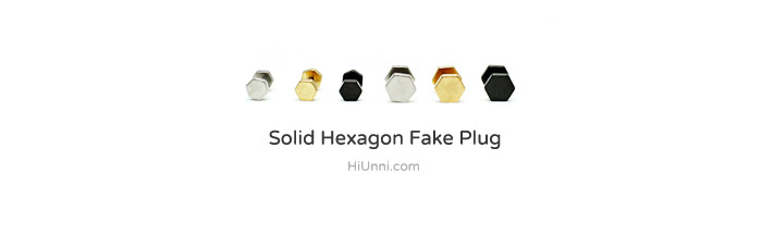 accessories_Koreanstyle_asianstyle_316l_ear_cartilage_piercing_earrings_16g_earstuds_barbell_fake_plug_cheaters_Hexagon_3