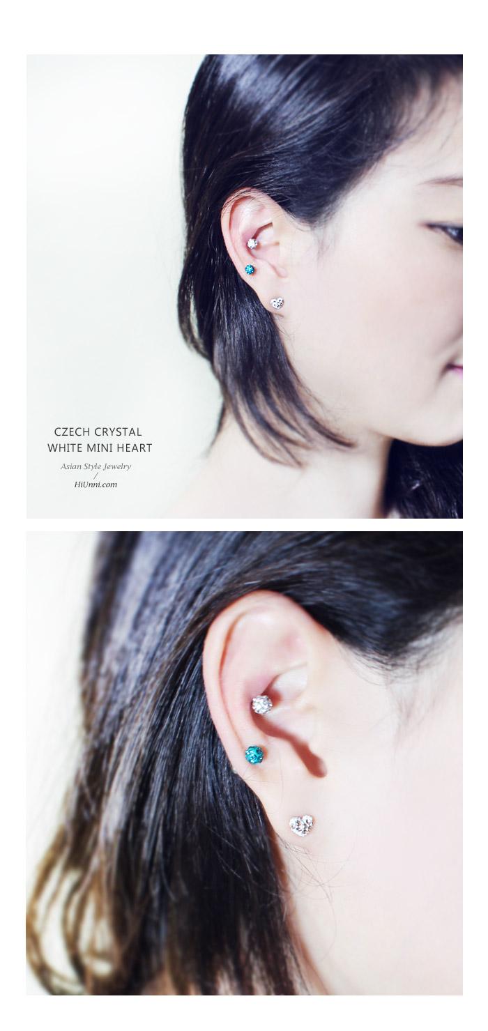 accessories_ear_stud_earrings_korean_asian-style_Crystal_Rhinestone_Czech_925-silver_Nickel-Free_heart_love_white_Champagne_3