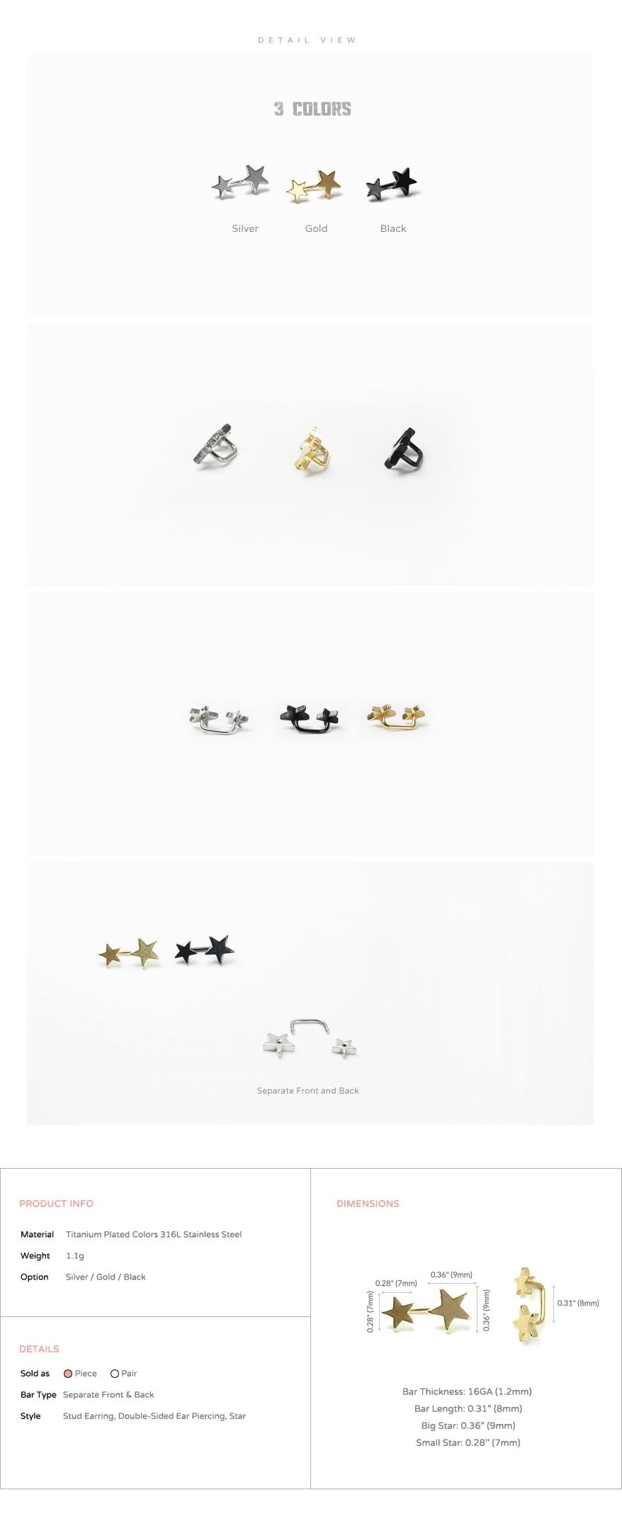 ear_studs_piercing_Cartilage_16g_316l_Stainless_Steel_earring_korean_asian_style_barbell_star_double_sided_3