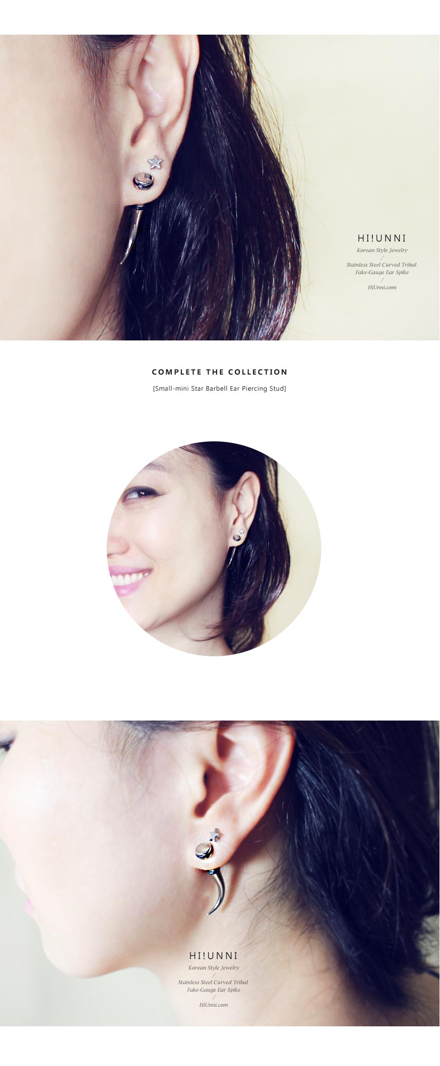 ear_studs_piercing_Cartilage_earrings_16g_316l_Surgical_Stainless_Steel_korean_asian_style_jewelry_curved_spike_fake_gauge_taper_5