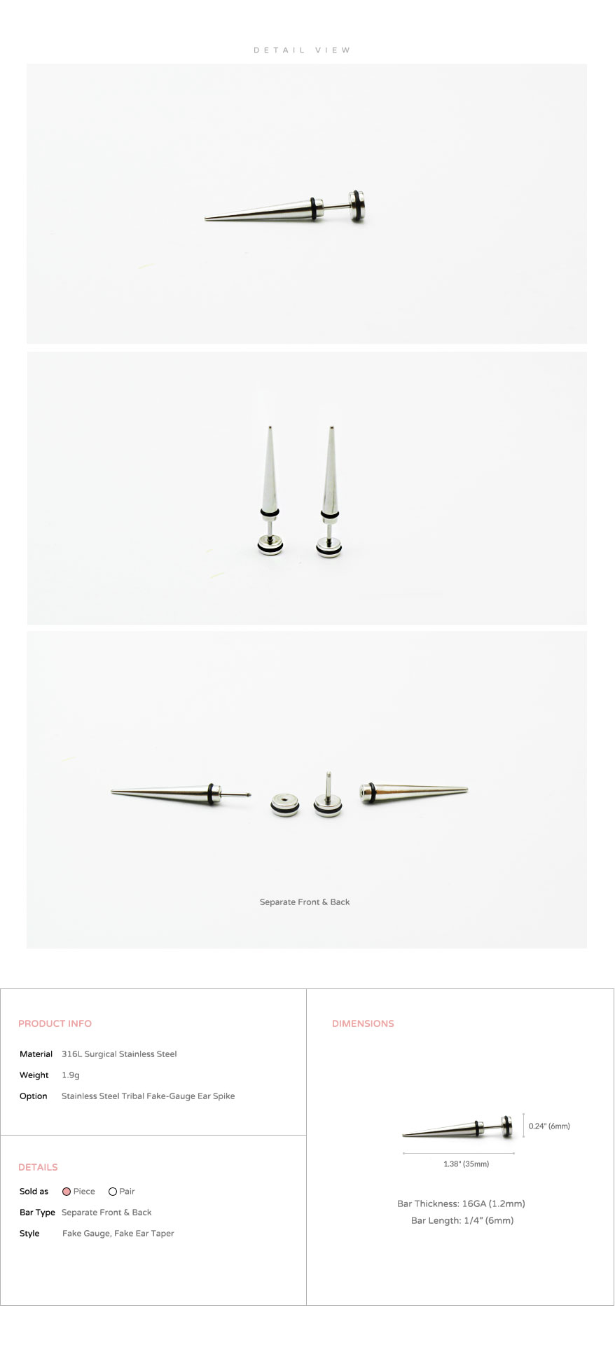 ear_studs_piercing_Cartilage_earrings_16g_316l_Surgical_Stainless_Steel_korean_asian_style_jewelry_fake_Gauge_taper_3