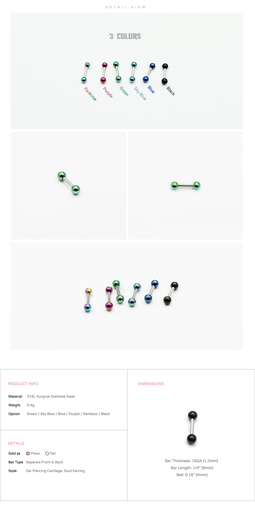 ear_studs_piercing_Cartilage_earrings_16g_316l_Surgical_Stainless_Steel_korean_asian_style_jewelry_barbell_titanium_3mm_5