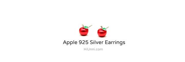 accessories_ear_stud_earrings_korean_asian_style_jewelry_apple_925_silver_3