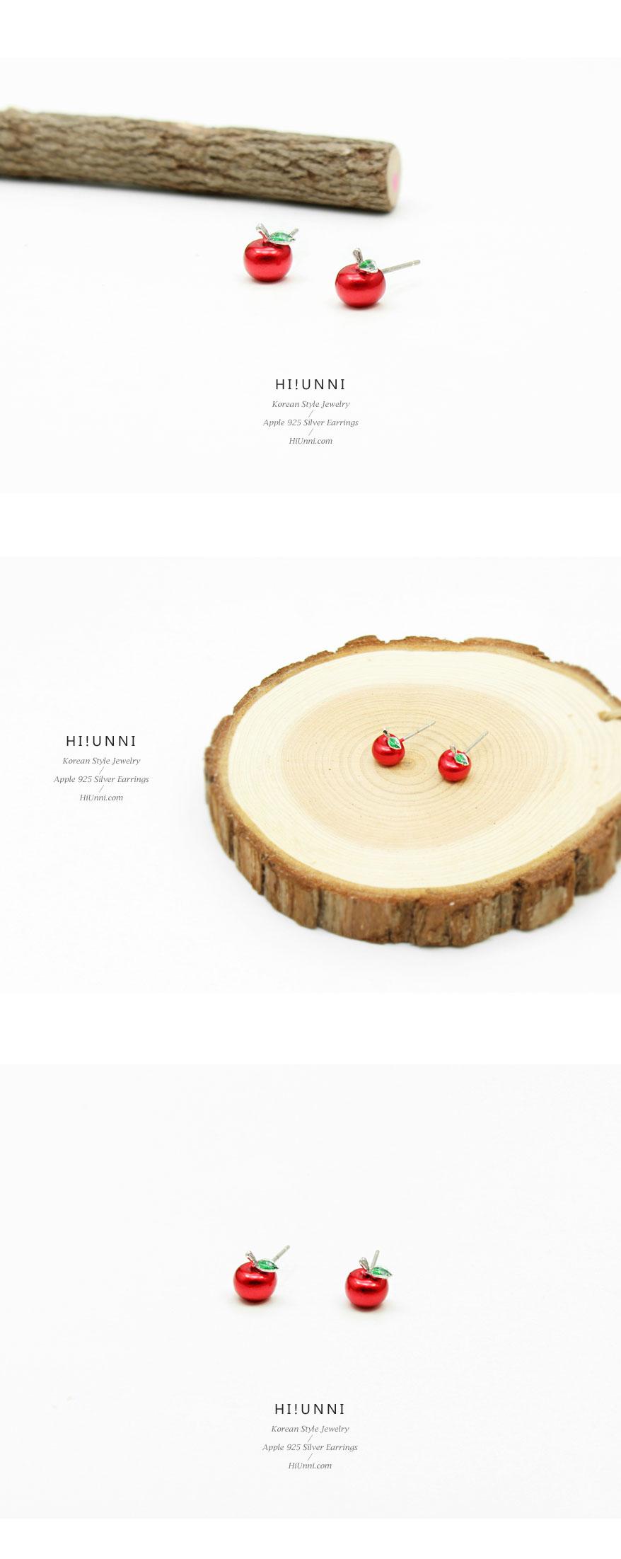 accessories_ear_stud_earrings_korean_asian_style_jewelry_apple_925_silver_4