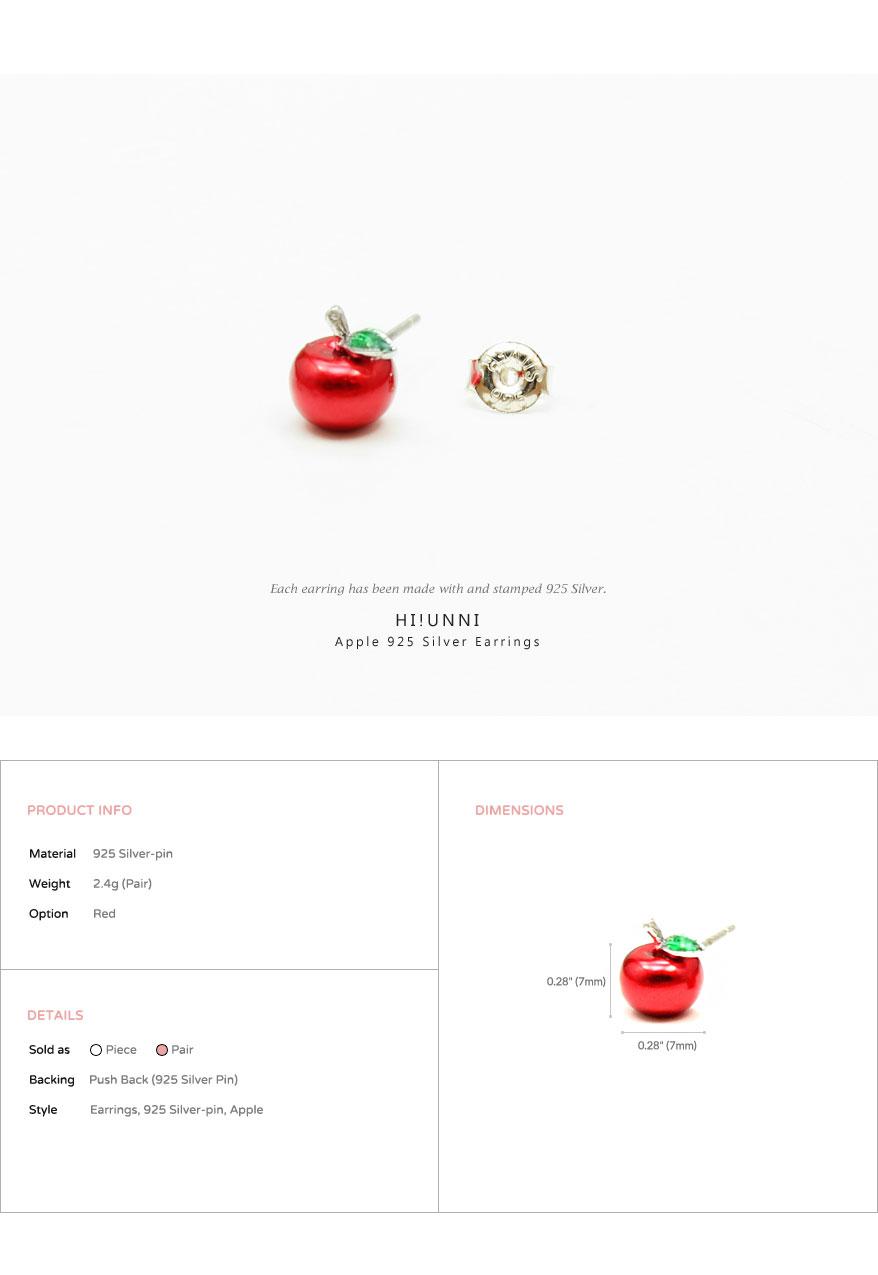 accessories_ear_stud_earrings_korean_asian_style_jewelry_apple_925_silver_5