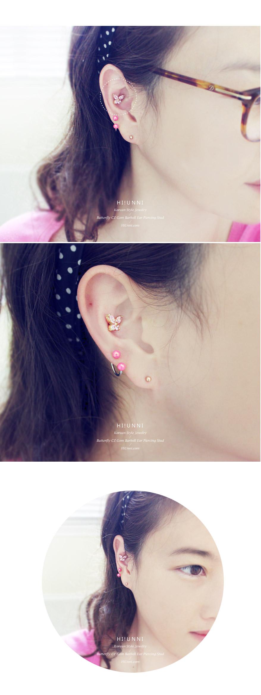 ear_studs_piercing_Cartilage_16g_316l_Stainless_Steel_earring_korean_asian_style_barbell_Butterfly_gem_cubic_cz_3