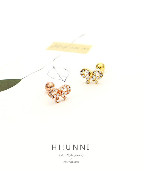 ear_studs_piercing_cartilage_earrings_16g_316l_surgical_korean_asian_style_jewelry_barbell_rose_gold_helix_conch_labret_tragus_bow_tie_ribbon_3
