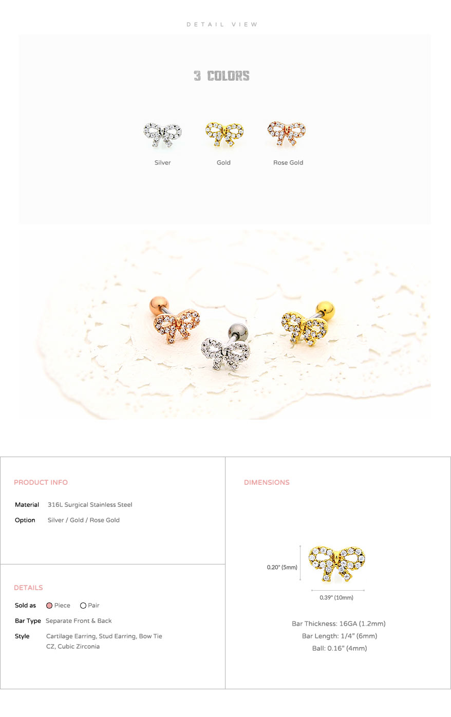 ear_studs_piercing_cartilage_earrings_16g_316l_surgical_korean_asian_style_jewelry_barbell_rose_gold_helix_conch_labret_tragus_bow_tie_ribbon_5