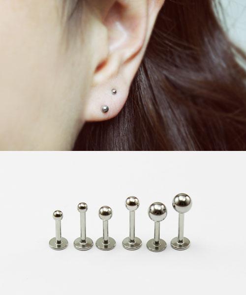 Om 925 Silver Tragus Labret 16g 1.2mm Body Jewellery /& Steel Bar Cartilage