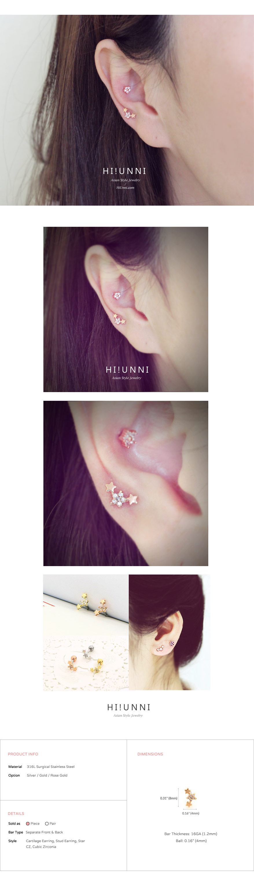 ear_studs_piercing_cartilage_earrings_16g_316l_surgical_korean_asian_style_jewelry_barbell_rose_gold_helix_conch_labret_tragus_star_triple_4