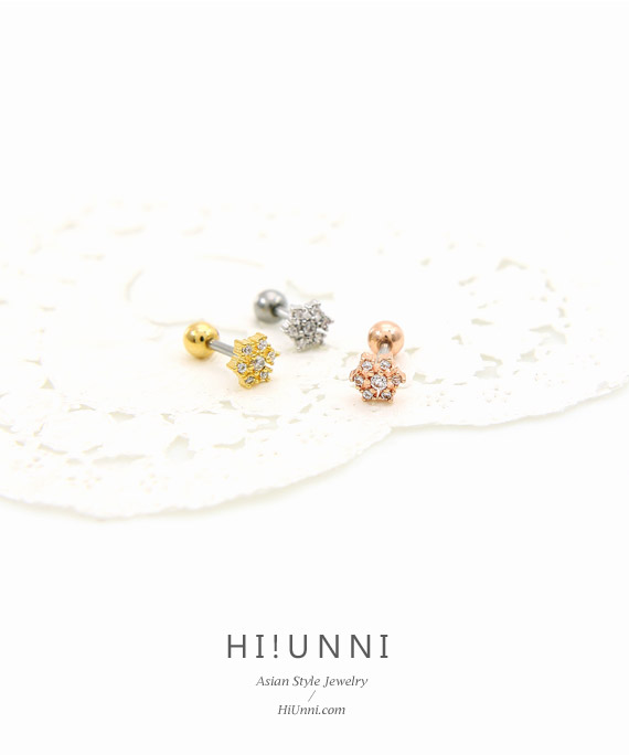 jewelry_earrings_stud_cartilage_piercing_16g_barbell_316l_cz_conch_helix_triple_star_flower_starflake_snow_snowflake_3