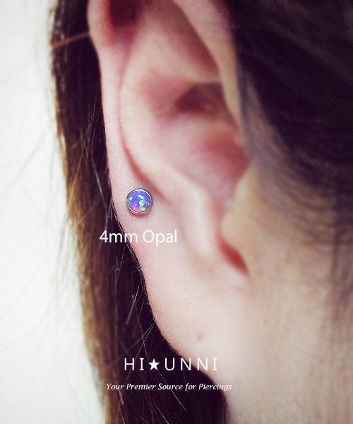 Opal labret Lip Ring Helix Earring Monroe Internally Thread Body Piercings Ring